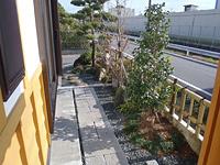 焼津市 A様邸 和風庭園 玄関からのアプローチ工事 施工写真2