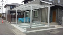藤枝市 T様邸 カーポート 施工写真1