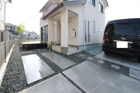 藤枝市 G様邸 和モダン外構 施工写真1
