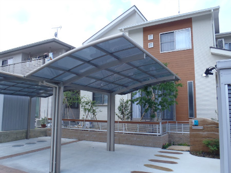 島田市 T様邸 駐車場カーポート 施工写真1