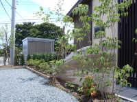 島田市 O様邸 版築土塀門柱 和モダン外構 施工写真3