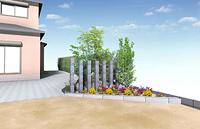 牧之原市 K様邸。目隠しと花壇の増設 施工写真4
