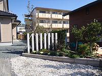 牧之原市 K様邸。目隠しと花壇の増設 施工写真3